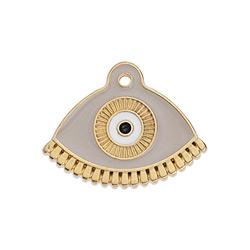 Μοτίφ έθνικ μάτι βεντάλια κρεμαστό 23,5 x 18,4