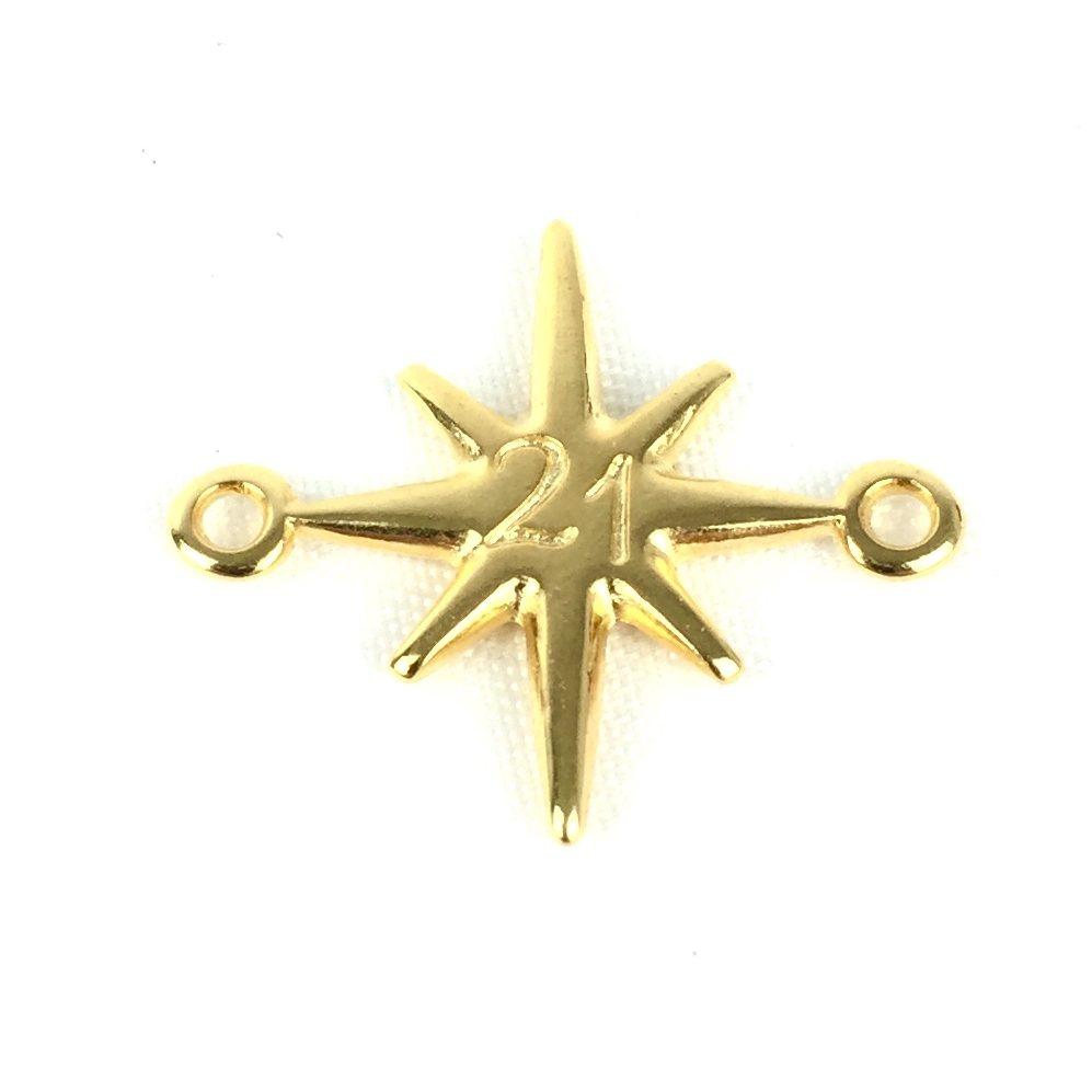 Μοτίφ αστέρι 21 με 2 κρικάκια